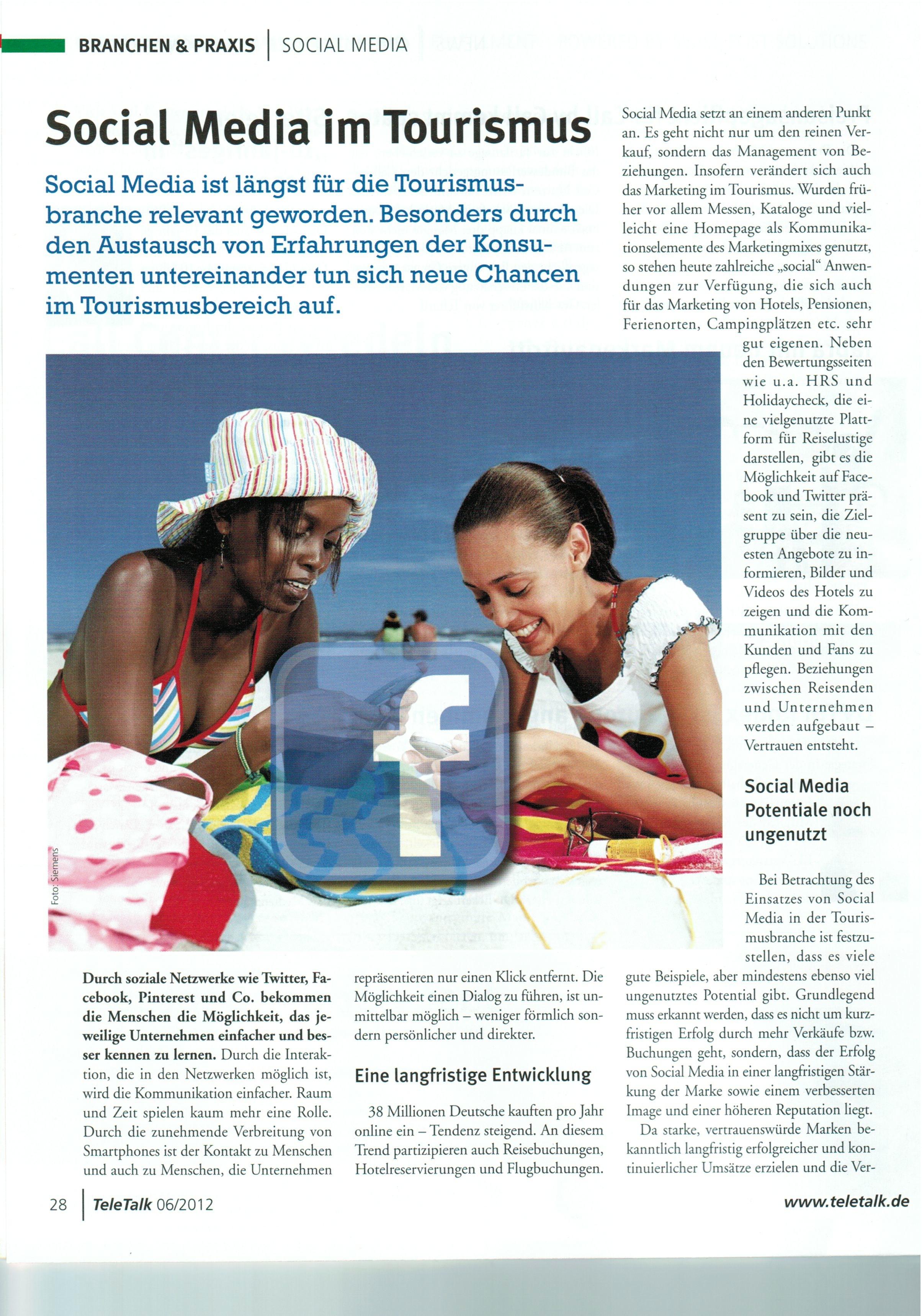 Printartikel_Teletalk_Social Media im Tourismus_2012-06-29