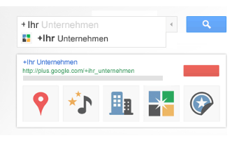 Google+ Suchanfrage